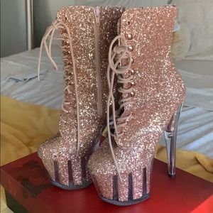 Rose Gold Pleaser Heels